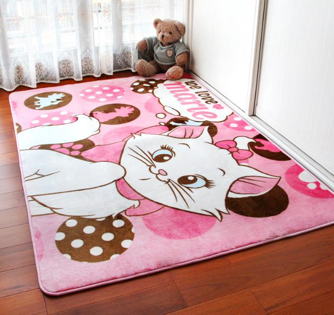 Фото Cartoon carpet bedroom cute child crawling mat living room coffee table blanket room home machine bed washing bed front blanket
