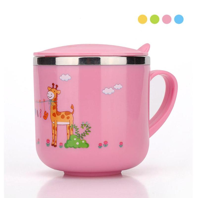 Stainless steel baby feeding cup children mug thermos Infant Drinking water bottles BPA Free Water Cup Children Drinker Gift R4