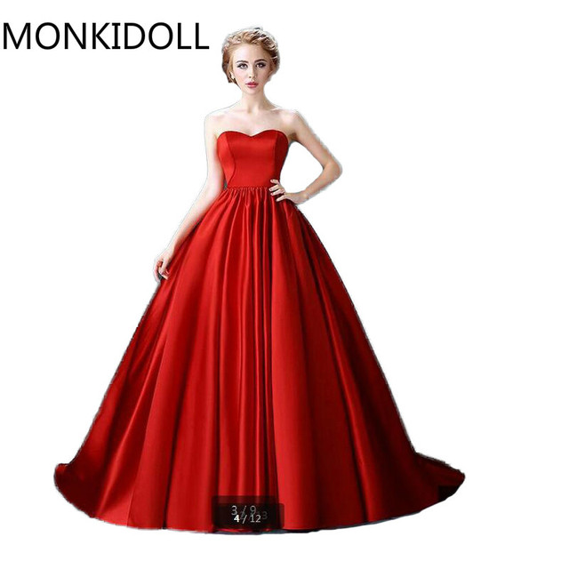 d463443009c 2016 Sexy New arrival ball gown strapless elegant prom dresses puffy  princess sweetheart tube prom gowns best selling