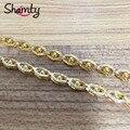 Encanto de la joyería de la cadena 24 k gold filled collar de cadena de perlas de lujo Del Medio Ambiente protección Previene alergia L13