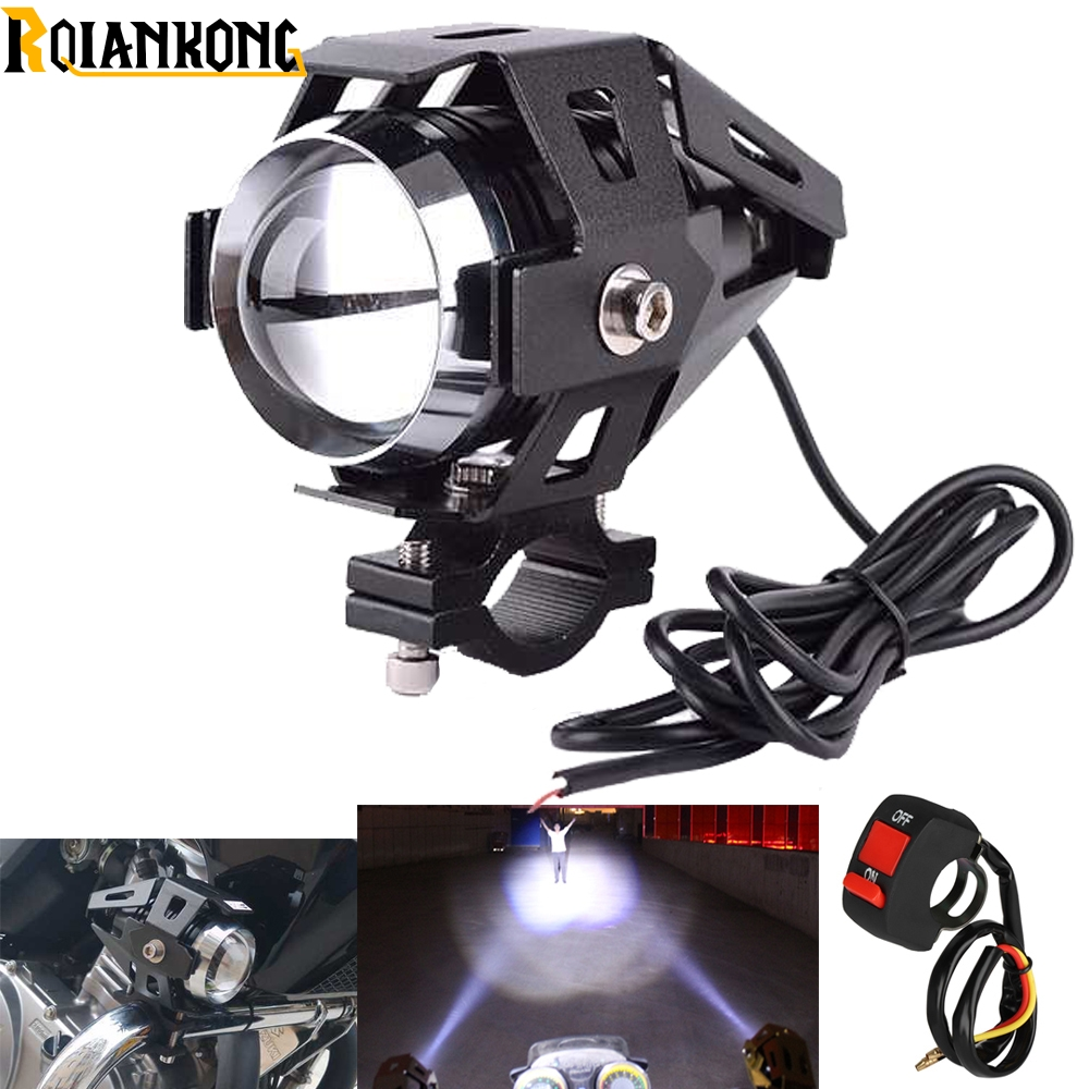 Universal 125 W 3000L motorcycle auxiliary light font b lamps b font fog light Super bright