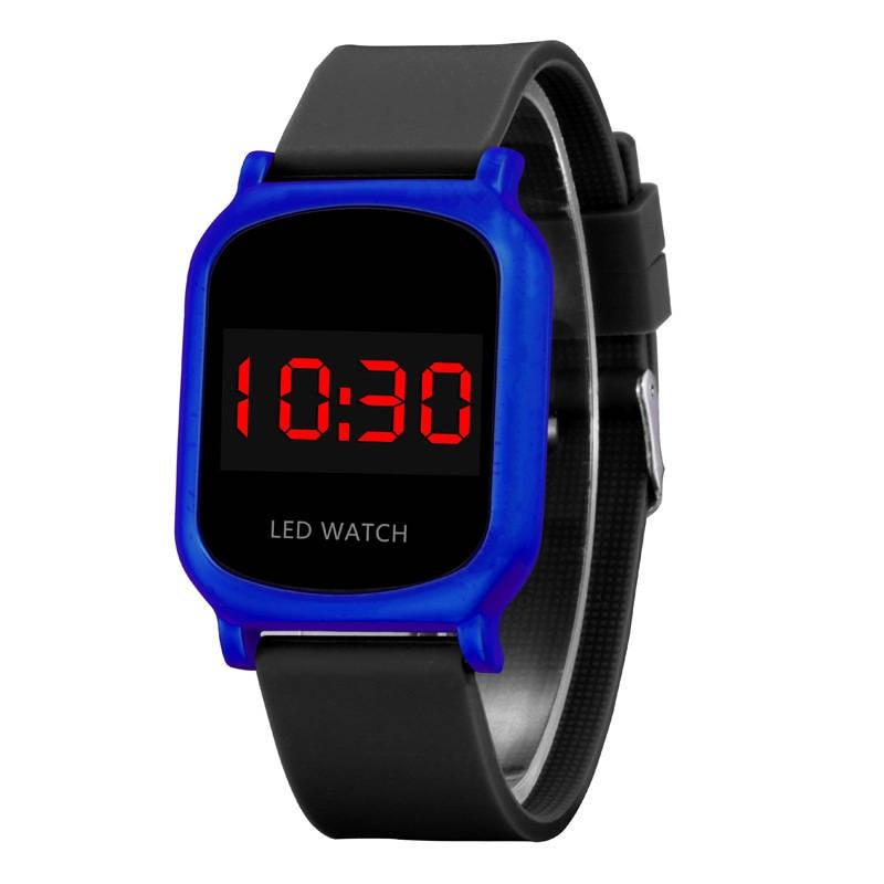Ctpor LED Children Watch Sports Electronic Children's Clock Fashion Boy Girl Wrist Watches 2019 Black Blue 3D Touch Watches Izle