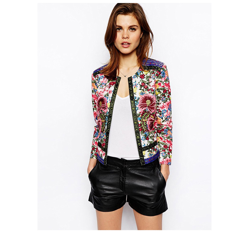 Aliexpress.com : Buy 2015 Autumn Womens Jackets Floral Printed ...