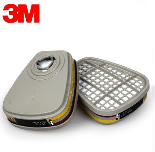 3 M 6057 Masque Vapeurs Organiques/Acide Gaz Cartouche Filtre NIOSH et LA Certifié Utiliser Avec 3 M 6000/7500 série Demi-Masque Respiratoire