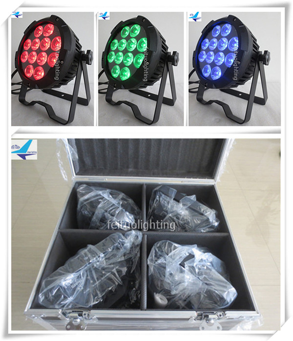 (8lot/CASE)Outdoor lighting slim par mini led light 12x10w par led rgbw led par light stage light flight case