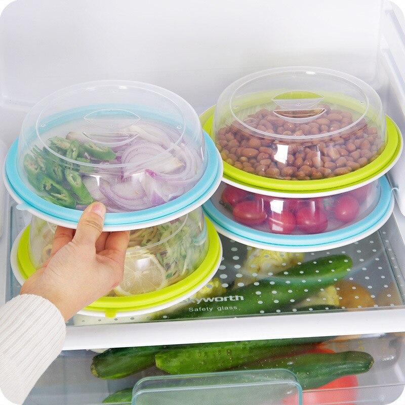 Multipurpose Microwave Plastic Plates Cover Sealing Lids Stackable Bowls Refrigerators Food Storage Tools Gadgets