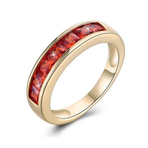 Купить женское кольцо цвета шампанского роскошное с кубическим цирконием