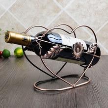 Области Европейский винный шкаф винная полка Винтаж Железные украшения модные красные для бутылок