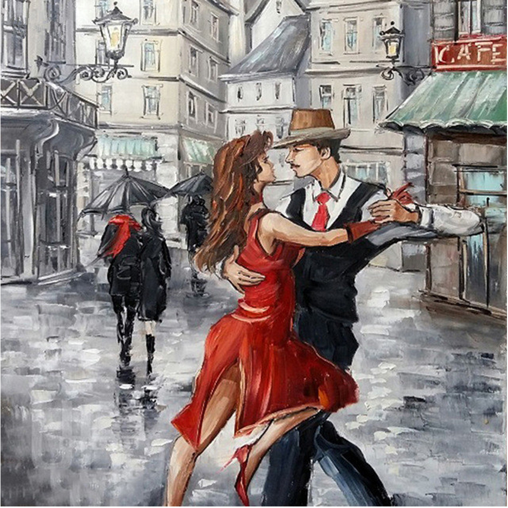 NEW 5D diy Diamond Painting Cross Stitch Couple Dance Crystal Needlework Diamond Embroid ...