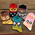Funny Harajuku Animal Owl Socks Pack Lot Women Fun Casual Chaussette Femme Character Girl Dots Patterned Sock 10 Pairs Wholesale
