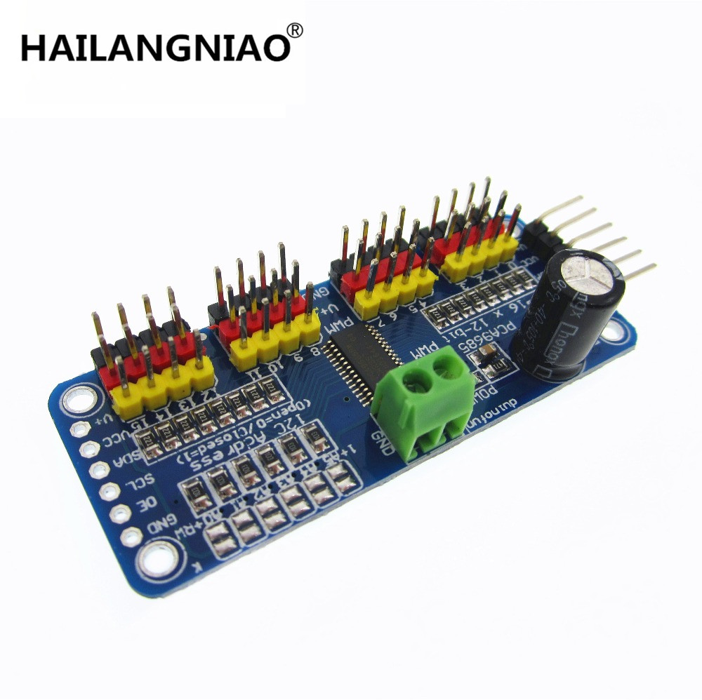 16 Channel 12-bit PWM/Servo Driver-I2C interface PCA9685 module Raspberry pi shield module servo shield tengying l298n motor driver board for raspberry pi red