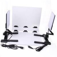 Profesjonalne Zestawy Oświetleniowe Fotograficzne CN-T96 5600 K 18 W Lampa LED Światła z Mini Tabela Fotografowania Tła Papieru Zestaw