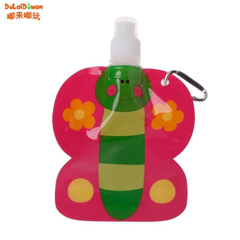 360ml Eco Friendly พับการ์ตูนน้ำชามท่องเที่ยวเครื่องดื่มชามปลอดภัยสำหรับเด็ก