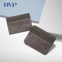 BVP Luxury Brand Genuine Leather Vintage Men Credit Card Holder Fashion ID Card Organizer Male Bank Card Case Slim Wallet J50