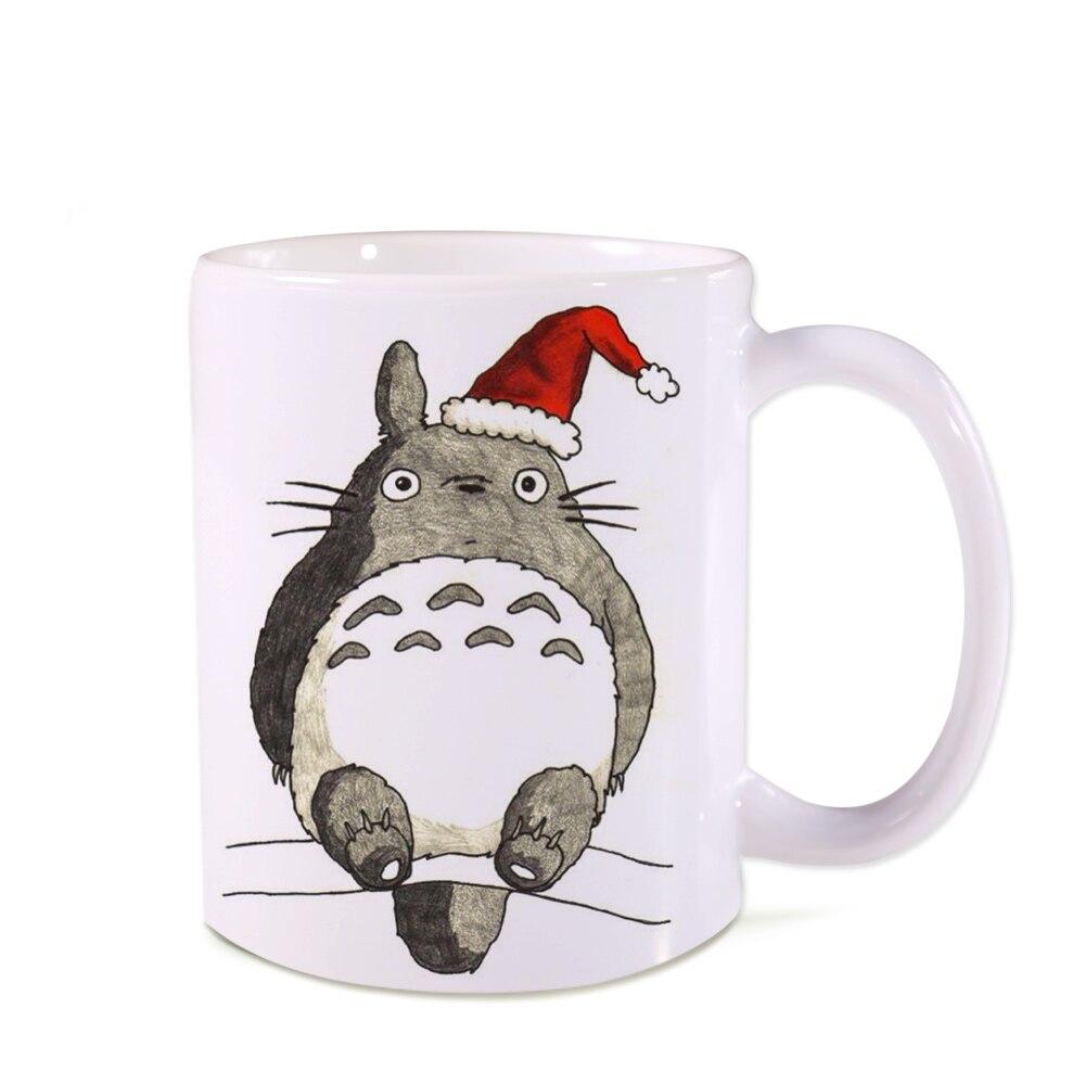 Free shipping holiday gift Coffee mugs Cat ceramic mug milk cup happy New Year Novelty Christmas gift mugs beer LOGO Cups 11 oz