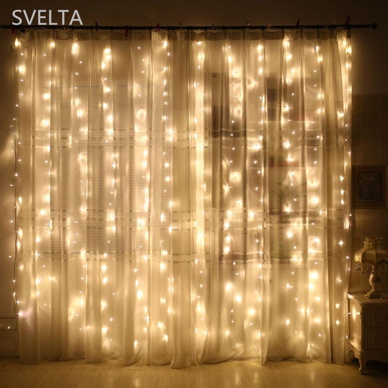 SVELTA 8X1.5M 384Bulbs LED ფარდის - სადღესასწაულო განათება - ფოტო 5
