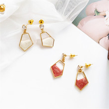 Simple metal irregular geometry earrings fashion girl delicate wholesale for birthday party