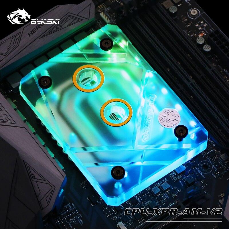 Bykski CPU Water Cooling Block Radiator use for AMD Ryzen AM4 AM3 X399 1950X TR4 / Transparent Acrylic AURA RGB RBW CPU-XPR-AMBykski CPU Water Cooling Block Radiator use for AMD Ryzen AM4 AM3 X399 1950X TR4 / Transparent Acrylic AURA RGB RBW CPU-XPR-AM