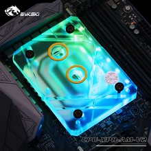 Bykski CPU Water Cooling Block Radiator use for AMD Ryzen AM4 AM3 Transparent Acrylic with RGB Light Controller CPU-XPR-ZEN цена
