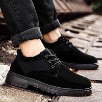 2018 nuevo macho Martens Zapatos negro caqui para los hombres suela de goma de los hombres zapatos casuales de calidad superior