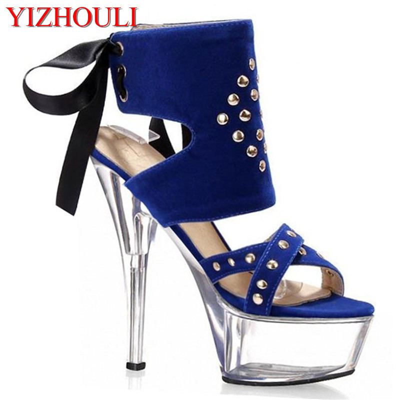 New 2019 summer open toe sandals platform thick heel high heeled shoes red black women s