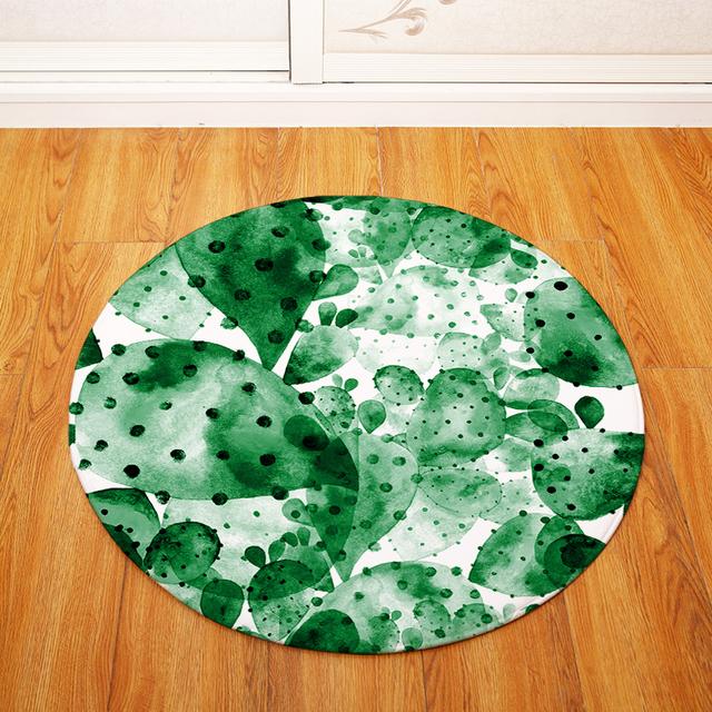 Round Cactus Floor Mat