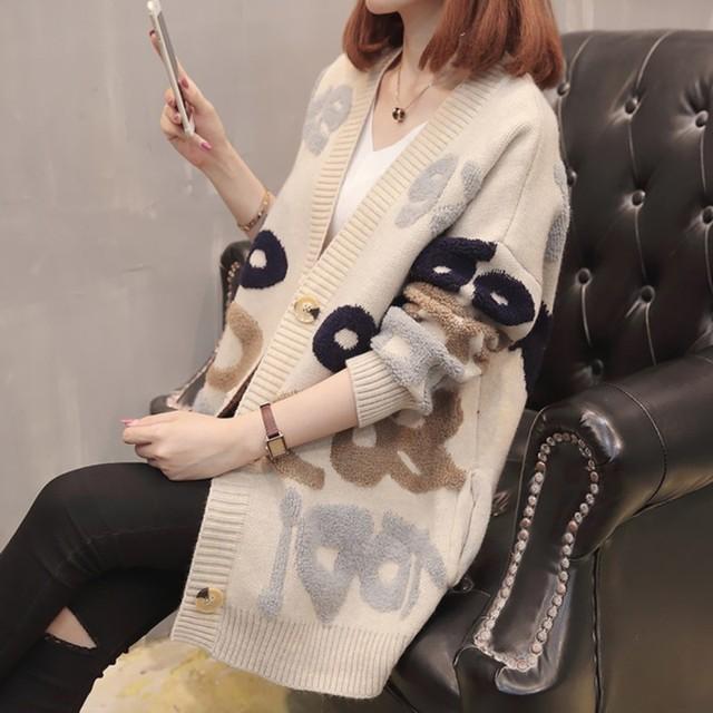 New Women ladies Casual Loose long Cardigan 2018 Runway Winter Jackets Fashion Sweaters Open Stitch Elegant Outwear Knit Coat