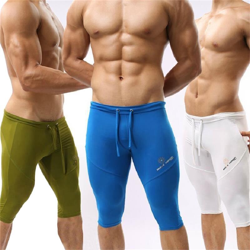 d0fd42c15b9f Männer Laufhose Engen Low Taille Jogging Bodybuilding Fitness Gym Kurze  Hosen Leggings Sportbekleidung Training in Männer Laufhose Engen Low Taille  Jogging ...