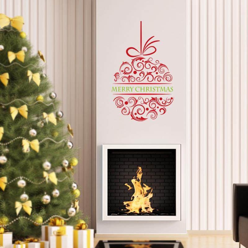 Fabric Christmas Tree Wall Stickers - Christmas wall decals removable