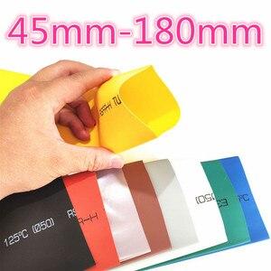 1 metr 2:1 9 kolorów 45mm 50mm 60mm 70mm 80mm 90mm 100mm 120mm 150mm 180mm termokurczliwe rurki termokurczliwe rurowy Dropshipping