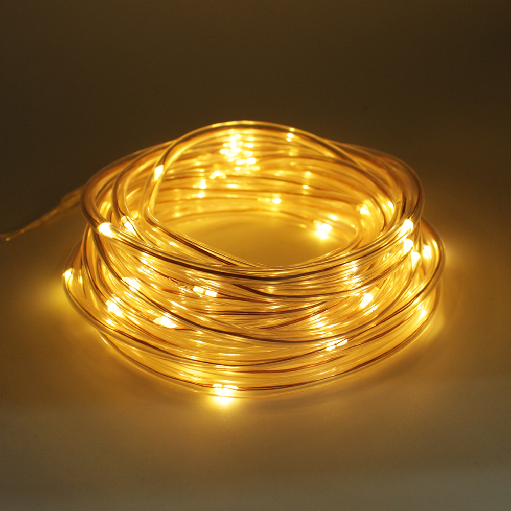 7M 50led Waterproof Led solar string light Copper Wire flexible Outdoor Holiday fairy light for Garden Party Decoration