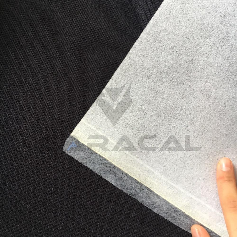 1MX1 6M BLACK JERSEY Pineapple Racing Car Seat Interior Fabric for RECARO BRIDE SPAC