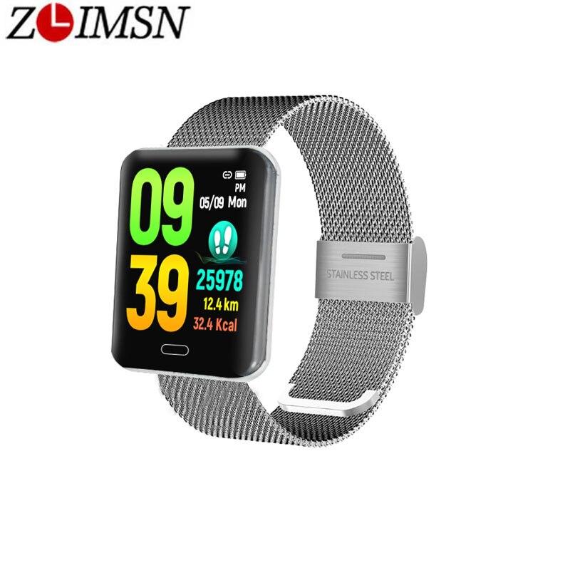 ZLIMSN Sport Q3 Smart watch Men waterproof Dynamic Blood Oxygen Pressure Pedometer Fitness Tracker Heart Rate Smart Watch