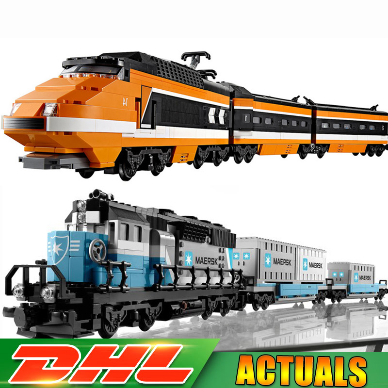 LEPIN 21006 Maersk Train +21007 Horizon Express Technic Model Building Block Bricks Toys Compatible LegoINGlys 10219 10233 Gifts lepin 21007 creator horizon train series the horizon express model building block 1351pcs bricks compatible with lepind 10233