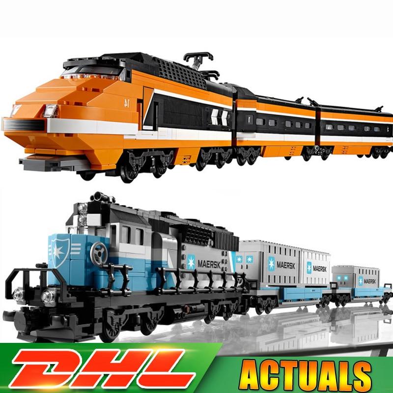 LEPIN 21006 Maersk Train +21007 Horizon Express Technic Model Building Block Bricks Toys Compatible LegoINGlys 10219 10233 Gifts