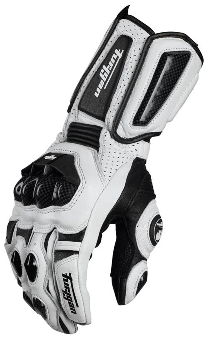 Vendite calde Freddo modelli In Fibra di Carbonio Furygan AFS10 moto rcycle guanti lunga corsa guanti guanti di cuoio Genuini guanti guanti de moto