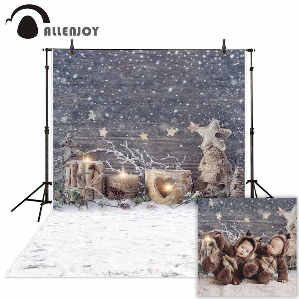 Allenjoy professional photography background beautiful winter snowflake stars children christmas decoration backdrop photocall цена