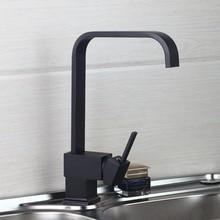ОРБ полированная черный латунь поворотный кухонные мойки кран 360 градусов вращающийся кухонный смесителя 8520-1