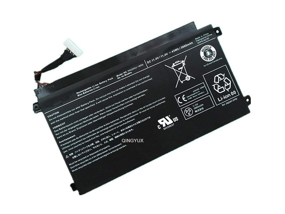 QINGYUX PA5255U-1BRS New 11.1V 43Wh 3660mAh Laptop Battery for Toshiba PA5255U-1BRS Series