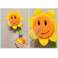 New Arrival Infants Babies Bathroom Sunflower Shower Faucet Bath Plastic Toy Learning Toy Gift