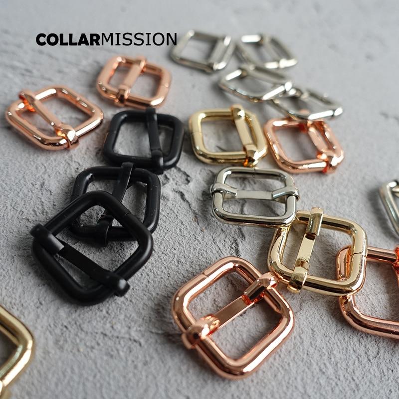 Buckles & Hooks Generous 50pcs/lot 15mm Metal Unwelded Plating Roller Pin Adjuster Buckle For Backpack Shoe Bag Cat Dog Collar Diy Accessorie 4 Colours