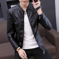 2019 New Men's Leather Locomotive Coat Autumn Korean Edition Healing Fashion Handsome Spring and Autumn Pu Leather Jacket Man