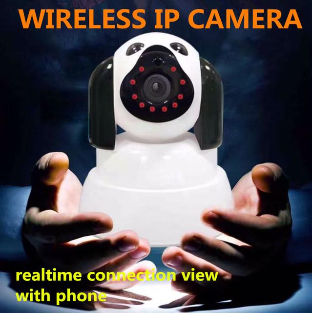 Câmera ip wi-fi de segurança sem fio inteligente rede de apoio cartão micro sd Rotatable Defender para a família Telecam HD Cctv IOS PC audio pt