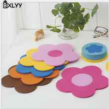 BXLYY 2018 3pc Creative Home Felt Sun Flower Placemat Coaster Fashion Insulation Pad Wedding Favors and Gifts Unicorn Party.8Z