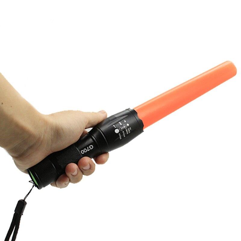 G700 taktische taschenlampe CREE XML T6 3800LM leistungsstarke led-lampe taschenlampe laterne verkehrspolizei ausrüstung durch 18650 rot baton licht