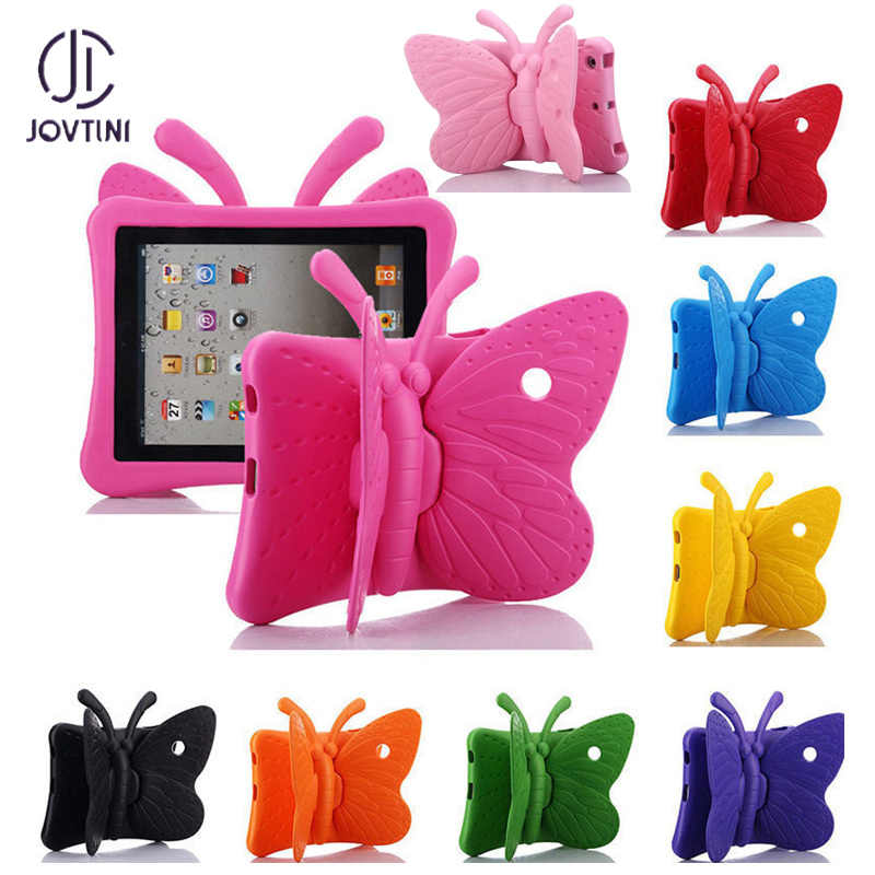 "JOVTINI Hot EVA Shockproof Case voor iPad Mini 1 2 3 4 7.9 ""Cartoon Vlinder Stand Tablet Cover voor iPad Mini 4 Kinderen Veilig Gevallen"