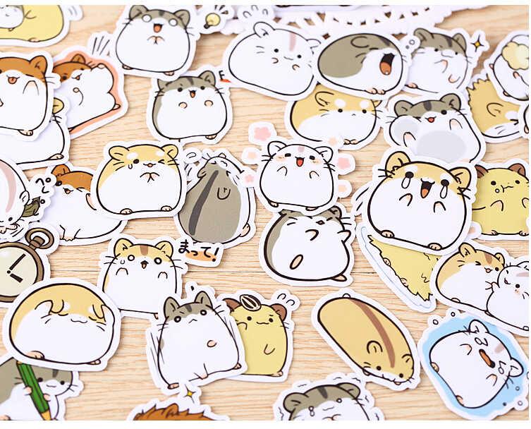 39 قطع الإبداعية kawaii عصامي الهامستر صغيرة ملصقات ملصقات جميلة/ملصق مزخرفة/DIY كرافت ألبومات الصور