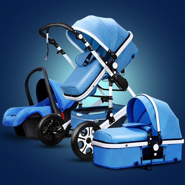 Baby Stroller 3 in 1 With Car Seat High Landscope Folding Baby Carriage For Child From 0-3 Years Prams For Newborns  4