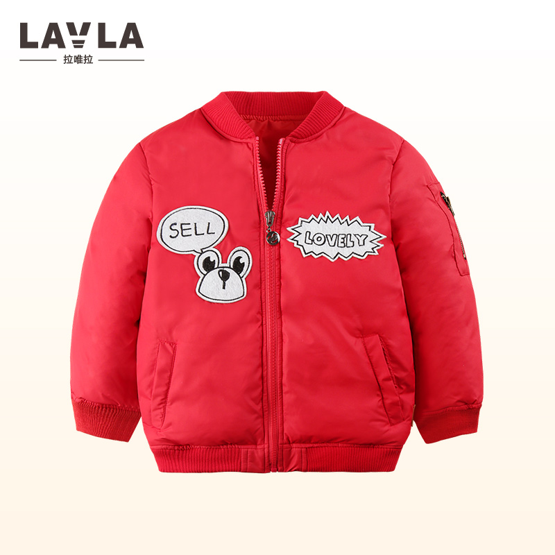 LAVLA children 2017 Autum winter outerwear coat baby boys girls warm jackets cute cotton-padded thickening coat Baseball Jackets children winter coats jacket baby boys warm outerwear thickening outdoors kids snow proof coat parkas cotton padded clothes