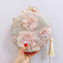 2020 luxurious Retro tassel evening clutch bag handmade embr